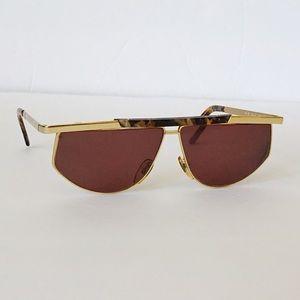 Vintage Fendi Gold FS 91 Glasses Frames Sunglasses